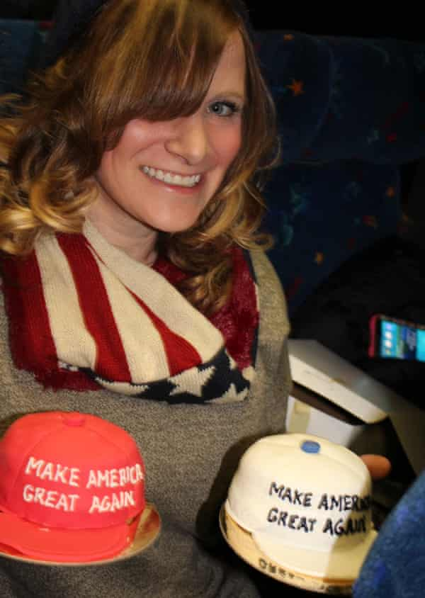"""Laura Ann bought two """"Make America Great Again"""" cakes."""