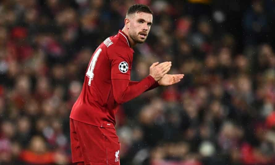 Jordan Henderson excelled in Tuesday's match with Bayern Munich.