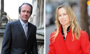 Fair shares: campaigner Michelle Young and her ex-husband Scot Young leaving court in 2013. He died last year after falling from his Mayfair flat.