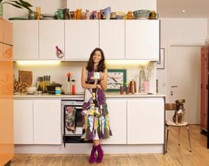 Jasmine Hemsley photographed in her kitchen in London.