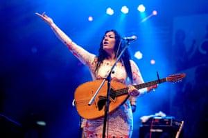 Nadin Al Khalidi in performance.
