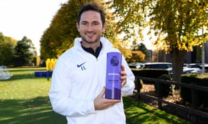 Frank Lampard has been named the Premier League's manager of the month for October.