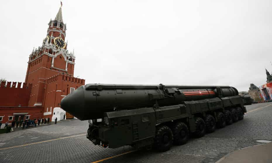 A Russian missile launcher in Red Square