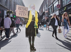 Repeal campaigner Megan Scott, dressed as St Brigid, Ireland's female patron.