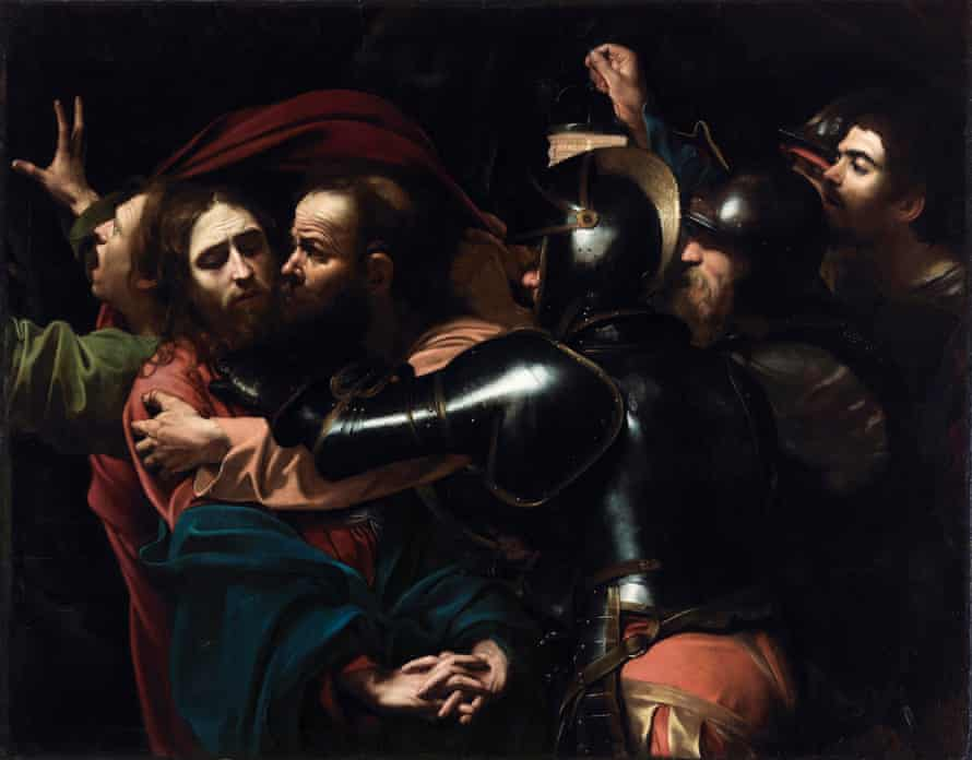 The Taking of Christ (1602), in Beyond Caravaggio at the National Gallery