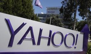 Yahoo sign at company HQ