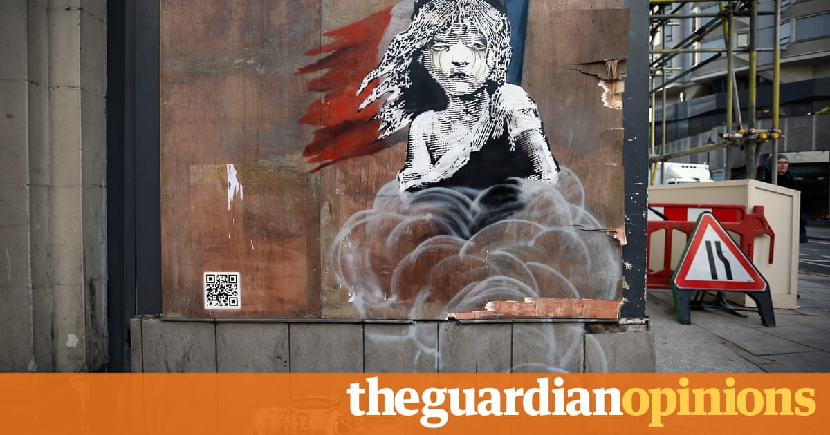 Banksys Refugee Piece Shows Us How To Protest And Grieve - People cant decide if theyre ok with this street artists ironic messages