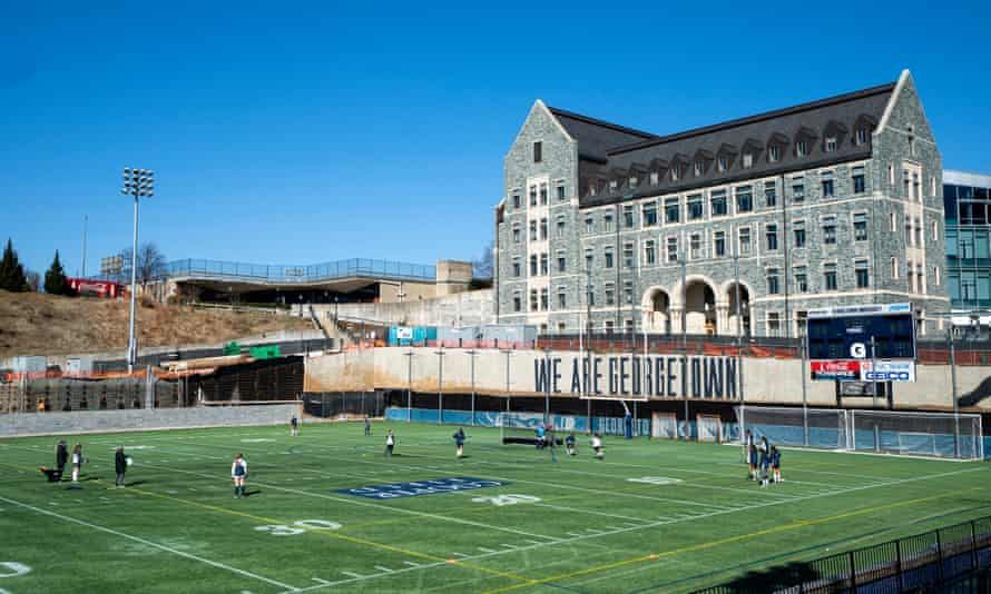 Cooper Field at Georgetown University, one of the universities named in the case, in Washington DC.