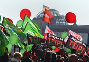 An anti-TTIP demonstration in Berlin this year.