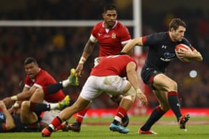 Jonah Holmes was cuts through Tonga's defensive line during an emphatic victory which displayed Wales's ever -growing talent pool.