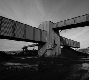 The coal conveyers at Ffos-y-fran