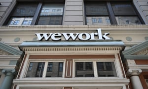 A WeWork office is seen in New York City
