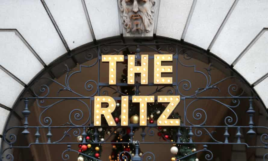 The London Ritz hotel sign