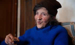 Stana Cerovic, 80, who has smoked since she was five.