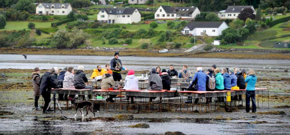 Cooking Sections' Climavore project on the Isle of Skye – bringing fish farmers together in discussion.
