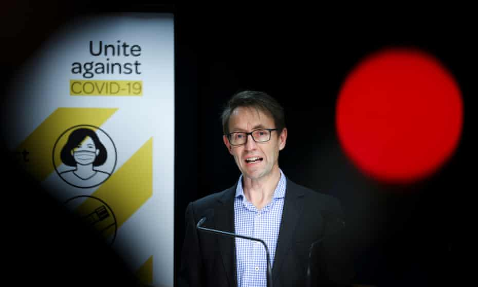 New Zealand's director-general of health, Dr Ashley Bloomfield, at a coronavirus media briefing on Sunday.