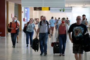 Passengers at Adelaide Airport in November