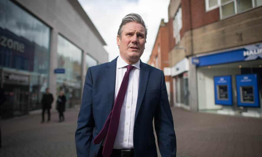 Keir Starmer in Crawley, West Sussex, March 2021