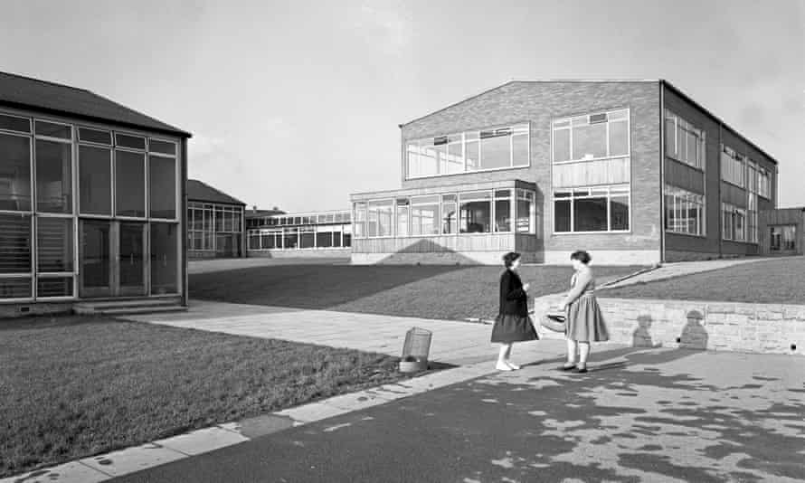 Swinton secondary modern school near Rotherham, South Yorkshire, soon after the sixth form buildings' construction in 1962.