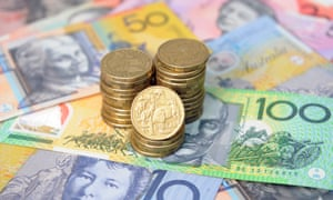 Australian dollar coins and notes