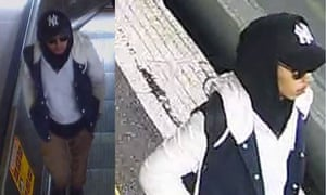 Images released by Victoria police of a man they say may be able to help with their inquiries into an alleged sexual assault on a train in Victoria on 16 May.