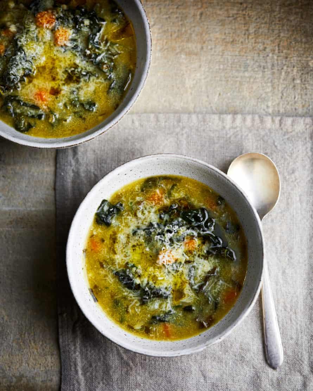 Claire Thomson's polenta green soup