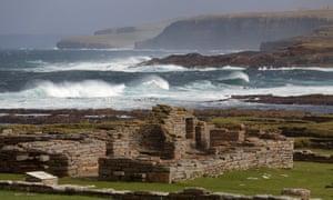 Rough seas in Orkney