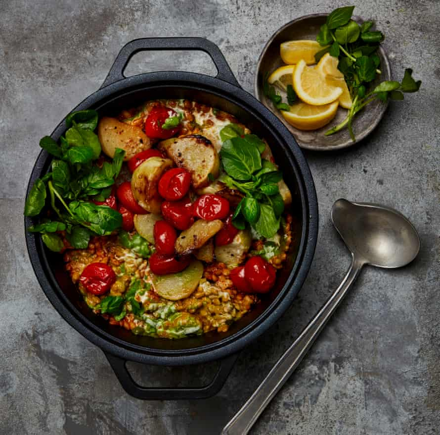 Yotam Ottolenghi's barley, tomato and watercress stew.