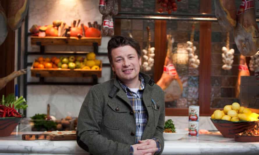 Jamie Oliver at one of his Jamie's Italian restaurants.
