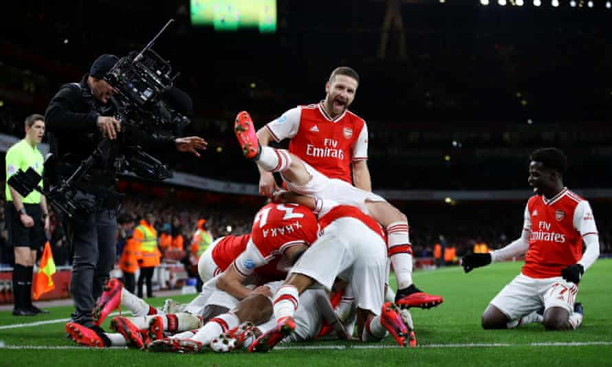 Shkodran Mustafi, here celebrating an Arsenal goal against Newcastle, says Mikel Arteta has talked about 'simple things you have to remember'.