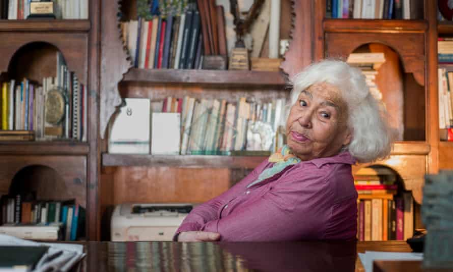 Nawal El Saadawi at her home in Cairo, Egypt, in 2015. Her radicalism started at an early age; she was appalled by her grandmother's sexism – 'a boy is worth 15 girls at least'.