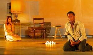 Ruth Wilson and Chukwudi Iwuji in Hedda Gabler, directed by Ivo van Hove.