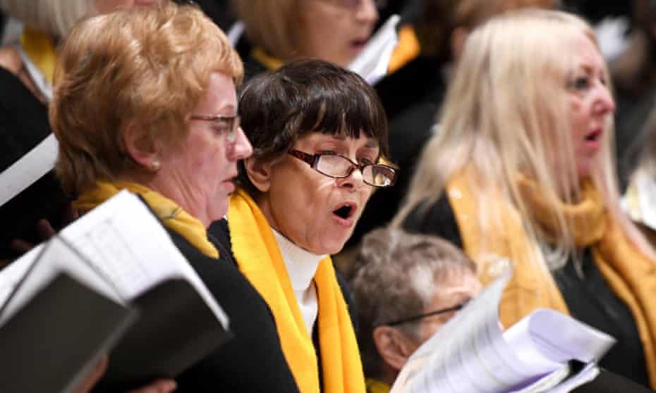 Choristers singing Cornish carols from Australia.