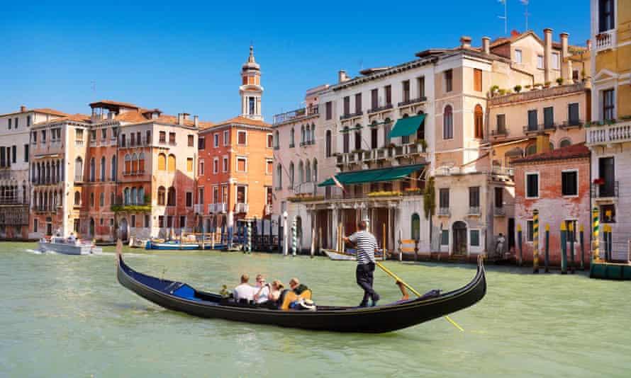 A gondola tour on the Grand Canal, Venice