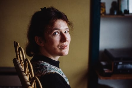 Angela Carter in 1981, photographed by Jane Bown for the Observer.