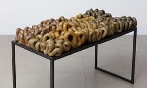 Nove Segmentos (Nine Segments), 1998, by Anna Maria Maiolino
