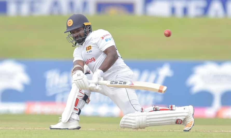 Kusal Perera is dismissed by Dom Bess
