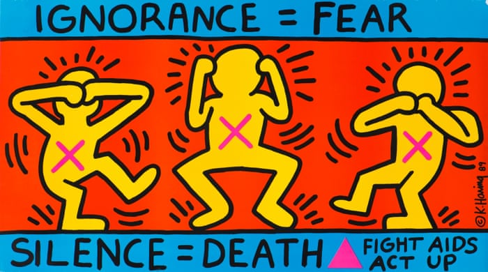 Keith Haring's Ignorance = Fear: political activism | Art and design | The  Guardian