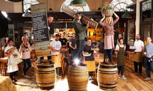 Some of the team from Altrincham Market including, centre, chief executive of operations Nick Johnson.
