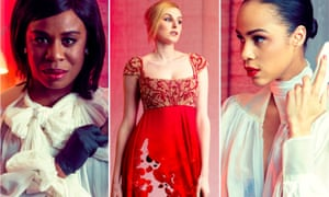Exploitation and revolt … Uzo Aduba, Laura Carmichael and Zawe Ashton in The Maids.