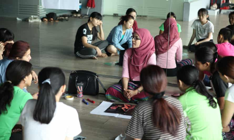 Dr Thet Su Htwe holds one of her reproductive health classes