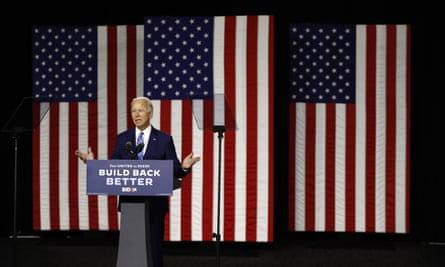 Joe Biden speaks during a campaign event in Wilmington, Delaware, on 14 July.