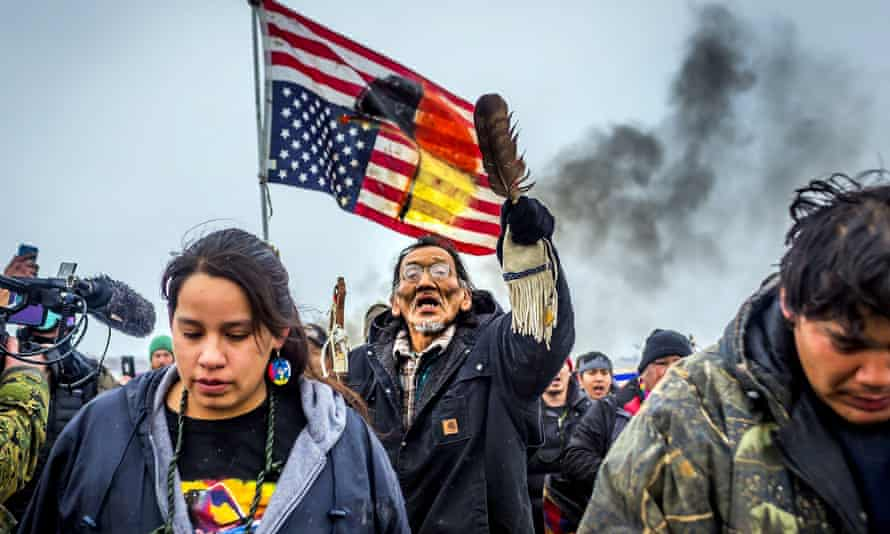 Defiant Dakota Access pipeline water protectors face off against various law enforcement agencies in February 2017. The consequences of the protest are still being felt by protesters in the criminal justice system.