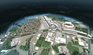 This graphic shows the planned 5.65km street circuit for the inaugural Vietnam Grand Prix, held in Hanoi in April.