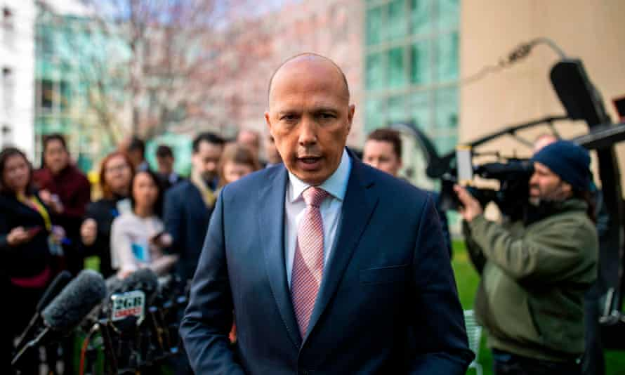 Peter Dutton's press conference on Tuesday.