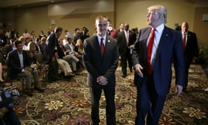 Donald Trump with his campaign manager Corey Lewandowski in August 2015.