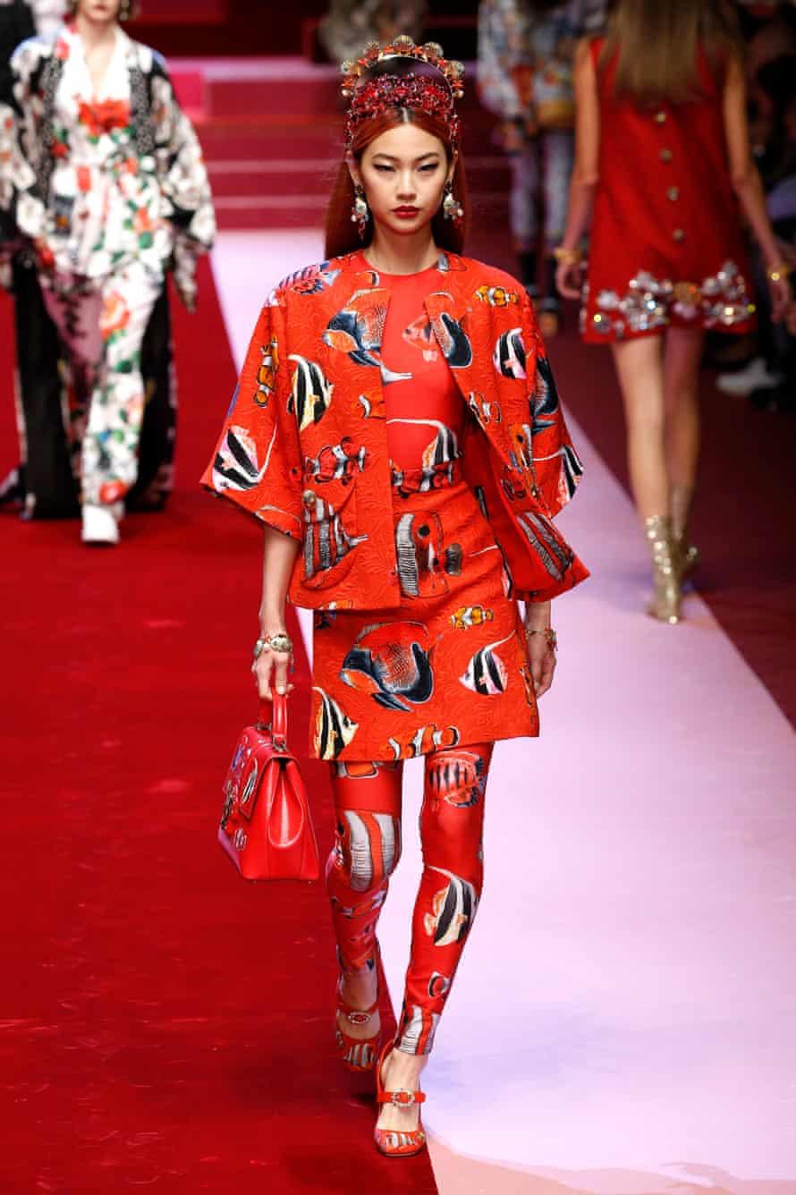 Dolce & Gabbana matching leggings ensemble.