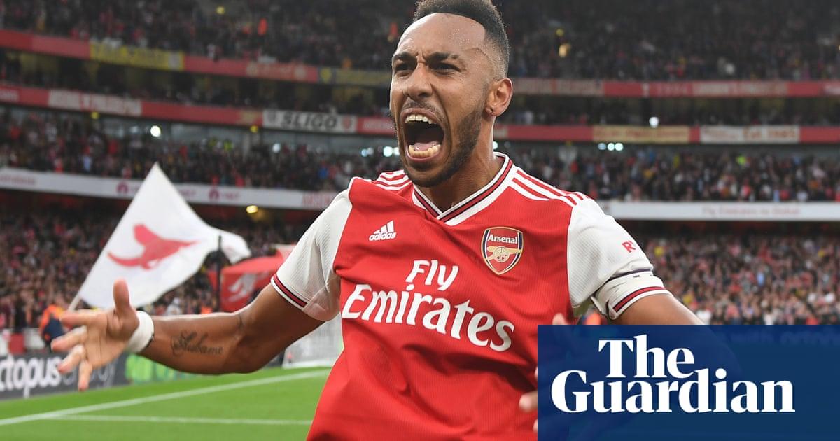 Aubameyang breaks Aston Villa hearts as 10-man Arsenal bounce back late on