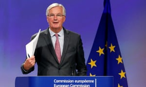 European Union's chief Brexit negotiator Michel Barnier holds a joint news conference with Britain's Secretary of State for Exiting the European Union David Davis.