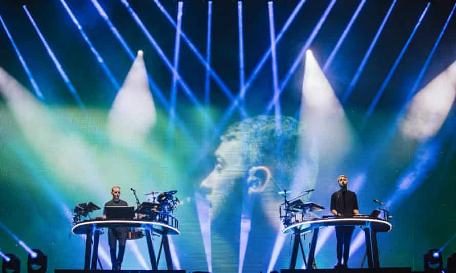Guy Lawrence and Howard Lawrence of Disclosure performing at Leeds festival